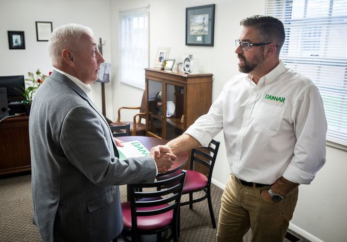 DANNAR's Scott Crepeau with Rep. Greg Pence