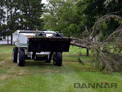 DANNAR-300-Mobile-Power-Station-clearing-trees
