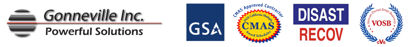 Available on the GSA schedule from Gonneville Inc.