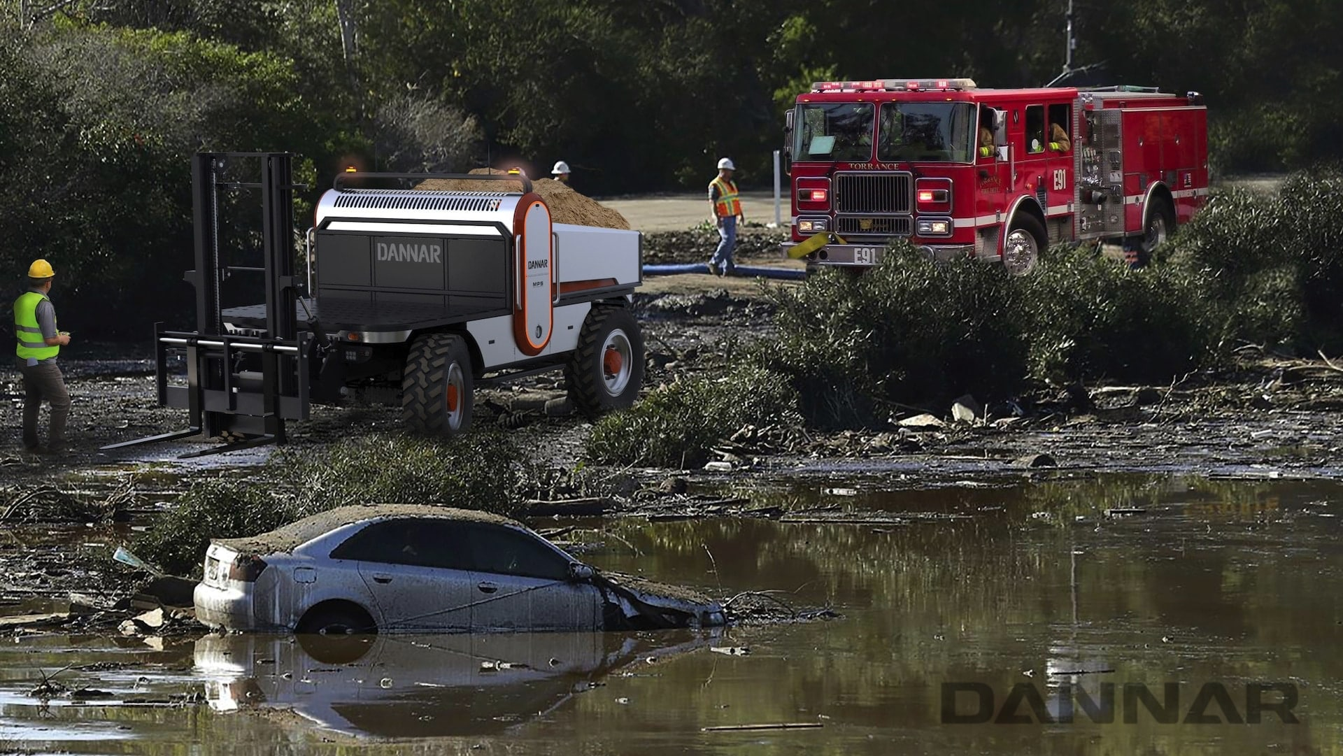DANNAR MPS 400 Revolutionary Work Vehicle Disaster Response